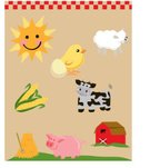 Farm,Hay,Farmhouse,Pig,Sheep,Baby,Corn,Duck,Corn - Crop,Cow,Child,Sun,Stack,Childhood,Animals And Pets,Farm Animals,Set,Illustrations And Vector Art,Animal Egg,Domestic Cattle,Collection,Sunlight