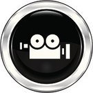Home Video Camera,Television Camera,Film,Ilustration,Movie,Web Page,Symbol,Religious Icon,Shiny,Metallic,Single Object,Vector,Internet,Illustrations And Vector Art,Metal,Circle,Computer Icon,Black Color