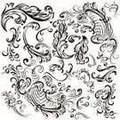 Retro Revival,Old-fashioned,Label,Document,Style,Ruler,Victorian Style,Leaf,Ornate,Decoration,Panel,Typing,Swirl,Set,Flourish,Flower,filigree,Celebration,Formalwear,Greeting,Nostalgia,Classical Style,Invitation,Curled Up,Greeting Card,Scroll,Vector,swirly,Page,typographic,Splashing,Part Of,Elegance,Divider,Antique,Curve,Frame,Calligraphy,Certificate,Book,foliate,Ilustration,Collection,Frame,Classic
