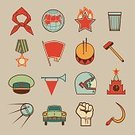 Riot,Revolution,Drum,Explorer,Retro Revival,Russia,Fist,Country - Geographic Area,Glass,Placard,Bugle,Medal,Cosmonaut,Scythe,National Landmark,Pioneer,Vodka,Earth,Back Lit,Hammer,Success,Sign,History,Armed Forces,Silhouette,First Place,Badge,Struggle,Old,Working,Computer Graphic,Unity,Yuri Gagarin,Old-fashioned,Decoration,Satellite,Cap,Human Hand,Banner,Combat Engineer,Sickle,Moscow - Russia,October,Tie,Flag,Label,Kremlin,Military,Former Soviet Union,Communism,Flame,Creativity,Labor Union,Manual Worker,Ilustration,Star Shape,Number 1,Winning,Art,Political Party,Red