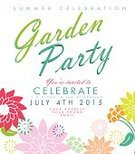 Celebration,Summer,template,Gardening,Formal Garden,Design,Text,Retro Revival,Garden Party,Invitation,Party - Social Event,Flower,Vector,Plant,Springtime,Ilustration,Vibrant Color,Leaf,Multi Colored,Colors,Square