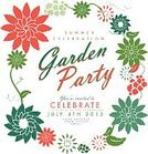 Formal Garden,Springtime,Gardening,Summer,template,Party - Social Event,Design,Garden Party,Retro Revival,Square,Invitation,Text,Multi Colored,Vector,Plant,Celebration,Ilustration,Vibrant Color,Leaf,Colors,Flower