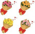 Bouquet,Carnation,Thank You,Rosé,Flower,Gratitude,Valentine's Day - Holiday,Birthday,Graduation,Gift,Lily,Rose - Flower,Orchid,Tulip,Heart Shape,Engagement,Red,Ribbon,Plant,Illness,Vector Florals,Celebration,Care,Illustrations And Vector Art,Cheerful,Flowers,Multi Colored,Love,Cute,Holidays And Celebrations,Vacations,Nature,Holiday
