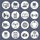 Symbol,Social Networking,Sign,Connection,Social Media Icons,Technology,Computer,Simplicity,Cloud Computing,www,web icon,Icon Set,Smart Phone,Vector,Ilustration,USB Cable,Mail,Data,Laptop,Wireless Technology,Telephone,Blog,Internet,Network Icon