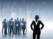 Businesswoman,Partnership,Silhouette,Leadership,Vector,analyst,Graph,Businessman,Team,Data,Well-dressed,Chart,Teamwork,Group Of People,Cooperation,Manager,Crowd,Arrow Symbol,Pattern,Large Group Of People,Standing,Suit,Activity,Tie,Reflection,Horizontal,Color Image,Office Worker,Outline,Color Gradient,Business,Business Concepts,Business Meetings