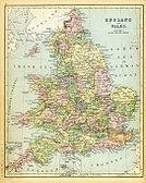 19th Century Style,Map,Image Created 19th Century,Victorian Style,Cartography,Antique,England,Obsolete,UK,Styles,Old-fashioned,Color Image,Engraved Image,Nostalgia,Northern Europe,Retro Revival,The Past,Wales,Navigational Equipment,Image Created 1890-1899,Equipment,Europe,History,Ilustration,Old