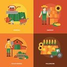 Flat,Design,Land,Sunflower,Corn - Crop,Concepts,Tractor,Barrow,Nature,Ornate,Fork,Hay,Plant,Job - Religious Figure,Computer Network,One Person,People,Real People,Men,Cartoon,Isolated,Farmer,Field,Symbol,Cooperation,Composition,Business,Computer Icon,Vegetable,Dirt,Rubber Boot,Corn,Merchandise,Personal Accessory,Occupation,Uniform,Bib Overalls,Hat,fieldwork,Seedling,Advertisement,Vector,Set,Ilustration,Icon Set,Collection,Harvesting,Watering Can,Communication,Combine Harvester,Family,Service