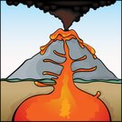 Volcano,Lava,Mt Etna,Erupting,Aa Lava,Mt Vesuvius,Mountain,Air Pollution,Ilustration,Cinder Cone,Pollution,Lake of Lava,Vector,Natural Disaster,Broken Top,Landscapes,Geological Feature,Medicine And Science,Research,Smog,Pahoehoe Lava,Smoke - Physical Structure,Nature