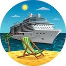 Beach,People Traveling,Business Travel,Travel,Cruise Ship,Ship,Sailing Ship,Cruise,Nautical Vessel,Travel Destinations,Relaxation,Palm Tree,Island,Sea,Ilustration,Sail,Blue,Exploration,Vector,Journey,Luggage,Chair,Wave,Tourism,Luxury,Water,Sky,Summer,Vacations