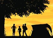 Camping,Tent,Family,Silhouette,Child,Tree,Vector,Outdoor Pursuit,Park - Man Made Space,Father,People,Son,Men,Bird,Woodland,Ilustration,Women,Non-Urban Scene,Summer,Mother,Offspring,Focus on Shadow,Walking,Childhood,Grass,active lifestyle,Little Boys,Computer Graphic,Sky,Clip Art,Lifestyle Backgrounds,Vector Backgrounds,Togetherness,People,Lifestyle,Holding Child,Illustrations And Vector Art,Sibling