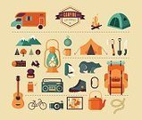 Nature,Camping,Symbol,Outdoors,Infographic,Hiking,Icon Set,Guitar,Forest,Data,Shoe,Walking,Vacations,Food,Rope,Label,Campfire,Season,Summer Camp,Tourist,Vector,Picnic,Adventure,Equipment,Camping Tent,Bear,Backpack,Family Camping