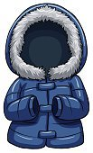 Jacket,warmer,Protection,Heat - Temperature,Coat,Computer Graphic,Backgrounds,Rain,Long Sleeved,Winter,Season,Climate,template,Clothing,Duvet,Blue,Vector
