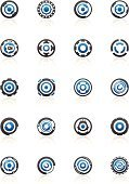 Circle,Sign,Gear,Abstract,Religious Icon,Design Element,Symbol,Design,Technology,Insignia,Blue,Modern,Icon Set,Geometric Shape,Shape,Computer Graphic,Computer Icon,Sparse,Gray,Vector,Curve,Silver - Metal,Transparent,Silver Colored,Symmetry,Reflection,Vector Icons,Illustrations And Vector Art,Ilustration,Style