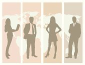 Business,Women,Silhouette,People,Men,Office Interior,Seminar,World Map,Businesswoman,Meeting,Back Lit,Internet,Globe - Man Made Object,Global Business,Global Communications,Map,Vector,Ilustration,Partnership,Design,Occupation,Teamwork,Group Of People,Business,Concepts And Ideas,Computer Graphic,Business Symbols/Metaphors,Business Concepts,Businessman