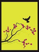 Bird,Japanese Culture,Sakura,Tree,Zen-like,Branch,Flower,Abstract,Vector,Art,Silhouette,Backgrounds,East Asian Culture,Design Element,Computer Graphic,Springtime,Drawing - Art Product,Paintings,Funky,Nature,Design,Ilustration,Leaf,Chinese Culture,Wallpaper Pattern,Painted Image,Decor,Summer,Ornate,Shape,Romance,Fashion,Creativity,Elegance,Style,Decoration,Beauty,Beauty In Nature,Plant,Vector Ornaments,Vector Florals,Illustrations And Vector Art,Nature,Nature Backgrounds