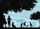 Park - Man Made Space,Silhouette,Family,Dog,Child,Tree,People,Offspring,Running,Summer,Vector,Men,Fun,Outdoors,Grass,Non-Urban Scene,Little Girls,Ilustration,Outdoor Pursuit,Women,Little Boys,Mother,Childhood,Parent,Focus on Shadow,Bird,Father,Friendship,Computer Graphic,Togetherness,Clip Art,Sky,children playing,People,Vector Backgrounds,Lifestyle,Lifestyle Backgrounds,Sitting Dog,Sibling,active lifestyle,Illustrations And Vector Art
