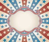 Backgrounds,Frame,Retro Revival,Patriotism,Old-fashioned,American Flag,Banner,Star Shape,American Culture,Fourth of July,Pattern,USA,Striped,Exploding,Sunbeam,Scroll Shape,Antique,Concentric,Copy Space,Vector Backgrounds,Holiday Backgrounds,Holidays And Celebrations,Illustrations And Vector Art