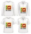 unisex,Textile,Fashion,Long Sleeved,Short Sleeved,nation,Flag,Sri Lanka,Clothing,Garment,White Background,Clip Art,Computer Graphic,Series,Collection,Shirt,T-Shirt,Vector