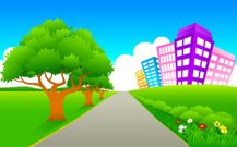 Town,Footpath,City,Road,Office Building,Park - Man Made Space,Building Exterior,Non-Urban Scene,Street,Ilustration,Vector,Straight,Tree,Green Color,Hill,Flower,Single Lane Road,Futuristic,Urban Scene,Bush,Residential Structure,Field,Highway,Direction,Nature,Lane,Sky,Distant,Plant,Plain,Bright,Meadow,Travel,Vibrant Color,Journey,Vector Backgrounds,Mid Distance,Travel Backgrounds,Travel Locations,Illustrations And Vector Art,Nature,Nature Abstract