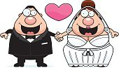 Wedding,Happiness,Cheerful,Clip Art,Cartoon,One Person,Computer Graphic,People,Holding Hands,Vector,Heterosexual Couple,Heart Shape,Men,Ilustration,Dress,Smiling,Love,Standing,Couple,Married,Husband,Bride,Bridegroom,Wife,Women