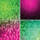 Abstract,Pink Color,Purple,Pattern,Four Objects,Vibrant Color,Backgrounds,Set,Red,Green Color,Square,Vector,Ilustration,Rhombus,Triangle,Yellow,Blue,Multi Colored,Bright