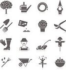 Computer Icon,Symbol,Icon Set,Gardening,Orchard,Abstract,Watering,Barrow,Computer Graphic,Lawn,Personal Accessory,Trowel,Pruning,Web Page,Rake,Ilustration,Rural Scene,Garden Hose,Seed,Protective Glove,Ornate,Business,Design,Hay,Collection,Isolated,Cartoon,Front or Back Yard,Bucket,Lawn Mower,Hobbies,Flower Pot,Hedge Clippers,Scissors,Shovel,Leaf,Black Color,Concepts,Vegetable,Growth,Scarecrow,Hat,Fruit,Vegetable Garden,Silhouette,Vector,Set,Fork