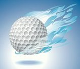Golf,Golf Ball,Ball,Flame,Blue,Fire - Natural Phenomenon,Flying,Sphere,Backgrounds,Ancient Olympic Games,US Open,Vector,Sport,Heat - Temperature,Zero Gravity,Lightweight,Light - Natural Phenomenon,Mid-Air,Ilustration,Spot Lit,isolated object,Burning,Levitation,Shadow,Spotlight