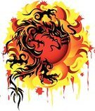 Dragon,Chinese Dragon,Tribal Tattoo,Fire - Natural Phenomenon,Sun,Furious,Vector Icons,Illustrations And Vector Art