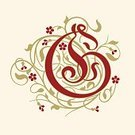 Flourish,Nobility,Floral Pattern,History,Ilustration,The Past,Alphabet,Gold Colored,Spiral,Blossom,Baroque Style,Tendril,Beige,Typescript,Calligraphy,Flower,Red,Swirl,Rococo Style,Victorian Style,Capital Letter,Vector,Identity,Design Element,Elegance,Old-fashioned,Decoration,Letter G