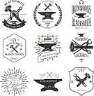 Computer Graphic,Symbol,Sledgehammer,Business,Holding,Label,Steel,Metalwork,Collection,Equipment,Craft,Foundry,Vector,Blacksmith,Badge,Authority,Craftsperson,Insignia,ironwork,Sign,Workshop,wrought