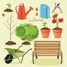 Equipment,Gardening Equipment,Can,Rake,Watering Can,Shovel,Garden Hose,Flower Pot,Agriculture,Nature,Botany,Design,Drawing - Art Product,Farm,Helicopter,Green Color,Old-fashioned,Flower,Tree,Water,Land,Dirt,Springtime,Poppy,Summer,Bench,Gardening,Lantern,Wheelbarrow,Pruning Shears,Illustration,Vector,Single Flower,Trellis,Canister,Landscape Gardener,Ripper,2015,Isolated,Horticulture,Hose,Spring Gardening