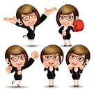 Business,Adult,Illustration,Cartoon,Women,Businesswoman,Vector,Characters,2015,