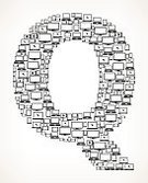 Internet,Communication,Global Communications,Information Medium,Cloud Computing,Technology,Digital Tablet,Modern,Backgrounds,Vector,Telephone,Smart Phone,Alphabet,Letter Q,Sparse,Digitally Generated Image,Education,Computer Monitor,Television Set,Laptop,Computer,Black And White