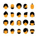 Avatar,Symbol,Human Face,Cartoon,Young Adult,Occupation,Businessman,Characters,Women,Boys,Eyeglasses,Men,Vector,Flat,Sign,Human Hair,Human Head,Females,user,Adult,People,Males,Collection,One Person,Mustache,Hairstyle,Beard,Set,Profile View,Hipster