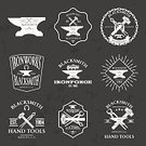 Blacksmith,Computer Graphic,Symbol,Sledgehammer,Holding,Label,Steel,Metalwork,Collection,Equipment,Business,Foundry,Vector,Badge,Authority,wrought,Craftsperson,Insignia,ironwork,Sign,Workshop,Craft