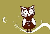 Owl,Silhouette,Animal,Cartoon,Cute,Forest,Wisdom,Vector,Night,Bird,Tree,Moon,Intelligence,Backgrounds,Modern,Nature,Playful,Plant,Wing,Sparse,themes,Midnight,Expertise,Fun,Springtime,Innocence,Silence,Elegance,Alertness,Individuality,Tranquil Scene,Star Shape,Watching,12 O'Clock,Beauty In Nature,Contrasts,Perching,Birds,Illustrations And Vector Art,Beak,Staring,Animals And Pets