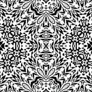 Black And White,Seamless,Design,Pattern,Black Color,Computer Graphic,Abstract,Repetition,White,seamlessly,Symmetry,Design Element,Continuity,Curve,Eternity,Cut Out,Wallpaper Pattern,Flourish,Decoration,Style,symbolical,Ornate,Backgrounds,Floral Pattern,Outline,Silhouette,Vector,Isolated