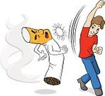 Smoking Issues,Cartoon,Smoke - Physical Structure,Smoking,Abuse,Ilustration,Vector,Sport,fisticuff,Boxing,Isolated,Stop,Knockout,Cigarette,White Background,Combat Sport,Stroking,Fighting,Conflict,Quitting,Leaving,Nicotine,Tobacco Crop,Concepts