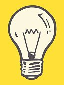 Single Object,Pop Art,Vector,No People,Line Art,Illuminated,Ilustration,Light Bulb,Cut Out