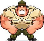 Armed Forces,Military Training,Military,Uniform,Army,Officer,Sergeant,Happiness,Smiling,One Person,Muscular Build,Hat,Clip Art,Men,Human Muscle,People,Cheerful,Large,Large Build,Flexing Muscles,Computer Graphic,hulking,Ilustration,Cartoon