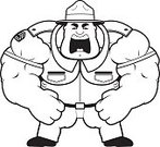 Sergeant,Ilustration,Large Build,hulking,Computer Graphic,Flexing Muscles,Large,Men,Vector,Screaming,Furious,People,Human Muscle,Clip Art,Cartoon,One Person,Muscular Build,Displeased,Anger,Shouting,Army,Military Training,Uniform,Officer,Military,Armed Forces,Hat