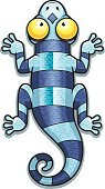 Clip Art,Cartoon,Computer Graphic,Ilustration,Blue,Tail,Striped,Animal,Reptile,Gecko,Newt,Lizard