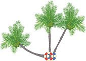 Tropical Climate,Nature,Tree,Exoticism,cocunut palm tree,Summer,Vacations,Coconut Palm Tree,Vector,Beach,Ilustration,Palm Tree