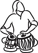Vector,Musician,Isolated,Cultures,Musical Instrument,Indian Music,Tabla,Sketch,Classical Concert,Drum,Outline,Sitting,Playing,Music,Ethnic Music,Silhouette,old-world,Men,Contour Drawing,Performance,Authority,Ilustration,Classical Music,Exoticism,White,India,World Music,East Asia,Percussion Instrument