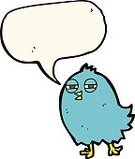 Cheerful,Doodle,Bizarre,Clip Art,Drawing - Activity,Ilustration,funny animals,Speech Bubble,Speech,Cute,Bird