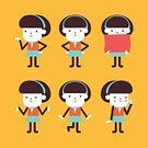 Cute,Adult,Symbol,Occupation,Emotion,Manager,Ilustration,Business,People,Businesswoman,Women,Vector