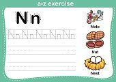 Animal,Strength,Alphabet,Activity,Handwriting,Flash Card,Bean,Practicing,Spelling,worksheet,Dictionary,Letter N,Outline,Tracing,Preschool,Learning,Education,Coloring,Eggs,England,Ilustration,Guide,Child,Cartoon,Music,Vector,Student,Animal Nest,Nut - Food,Text