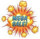 Mega Sale,Business,wording,Vector,Label,Abstract,Clip Art,White Background,Exploding,Fire - Natural Phenomenon,Computer Graphic