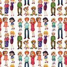 Baby,Child,Grandfather,Grandmother,Daughter,Sibling,Gift,Women,Men,Momy,Mother,Clip Art,Computer Graphic,Repetition,White Background,Pattern,Father,family member,Family,Vector
