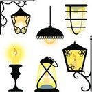 Lantern,Electric Lamp,Candle,Candlestick Holder,Vector,Lighting Equipment,Electricity,Clip Art,Flame,Light Bulb,Isolated Objects,Illustrations And Vector Art